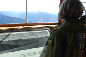 Hurricane Ridge Visitor Center at the Olympic National Park