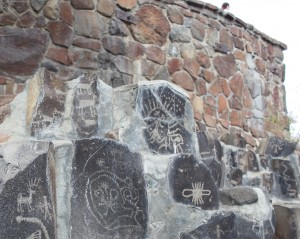 petroglyphs at the Gingko Petrified Forest, Washington State