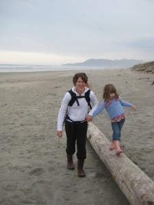 oregon coast with kids at rockaway beach