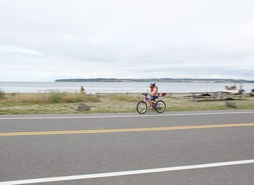 Riding bikes at Birch Bay