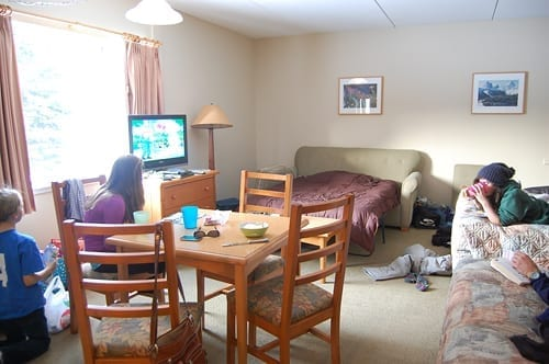 A family room at Manning Park Resort