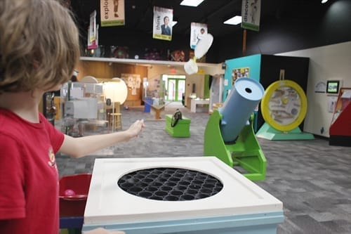 Science Factory in Eugene with kids