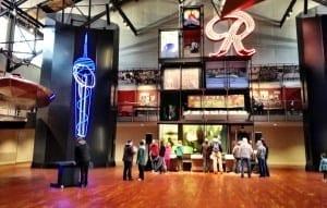 Atrium at MOHAI kid-friendly museum in Seattle