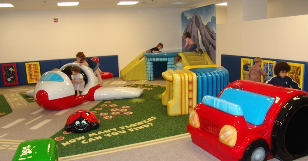 seattle airport with kids play areas rocking chairs and more