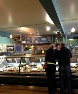 Ordering at the deli at Skagit Co-Op