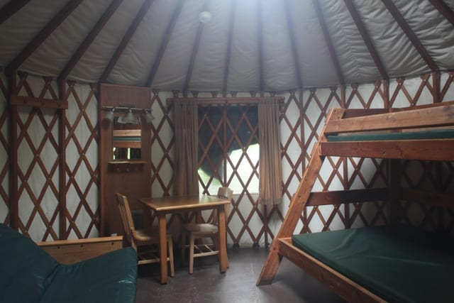 An Oregon yurt