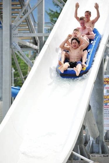 Boomerang Ride at Cultus Lake Water Park, BC with kids