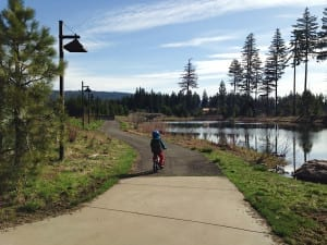 Cycling on the Suncadia Resort Paths