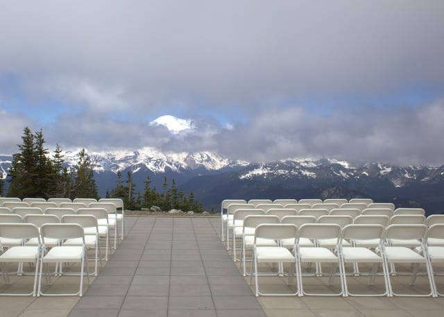 Wedding viewpoint at Crystal Mountain