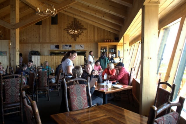 Eating with kids at Summit House at Crystal Mountain Resort