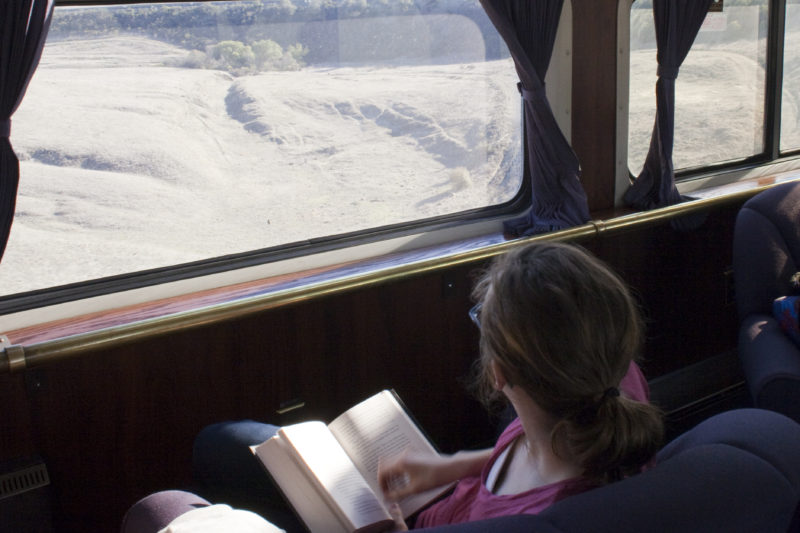 taking the train on a spring break trip with teens in washington